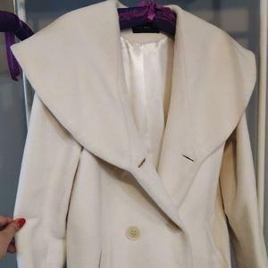 White angora coat